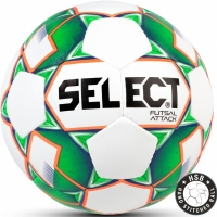 Minge fotbal Select Futsal Attack 2018 alb and verde Hall 13972 copii