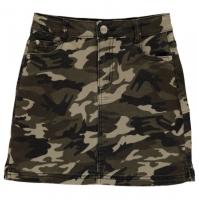 Firetrap Camo Mini Skirt de fete Junior