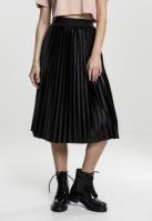 Fusta Velvet Plisse pentru Femei negru Urban Classics