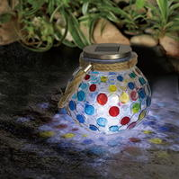 Garden Essentials Solar Spotty Glass Light