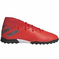 Ghete de fotbal Adidas Nemeziz 193 gazon sintetic rosu F99941 copii