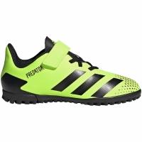 Ghete de fotbal Adidas Predator 204 H&L gazon sintetic verde-negru FW9780 pentru copii