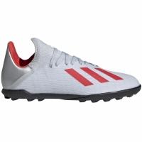 Ghete de fotbal Adidas X 193 gazon sintetic Silver F35358 copii