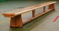 Gimnastica PAD 2,50m picioare de lemn