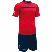 Givova kit echipament fotbal complet One rosu-albastru KITC58 1204