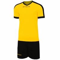 Givova kit echipament fotbal complet Revolution galben-negru KITC59 0710