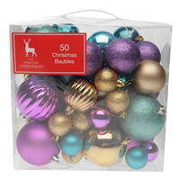The Spirit Of Christmas 50 Pack of Baubles