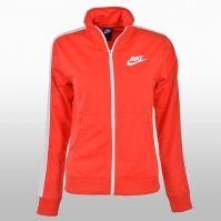 Bluza de trening portocalie cu fermoar Nike femei