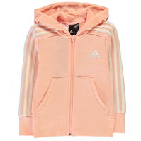 Hanorace adidas 3 Stripe Zip de fete Junior