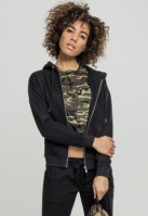 Hanorac clasic cu fermoar pentru Femei negru Urban Classics