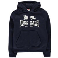 Hanorace Lonsdale 2 Stripe Zip de baieti Junior