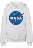 Hanorac NASA Insignia pentru Copii alb Mister Tee