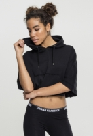 Poncho Cropped cu gluga pentru Femei negru Urban Classics