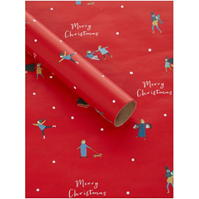House of Fraser Red Merry Christmas 3m Wrapping Paper