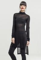 Fine tricot Turtleneck Long Shirt pentru Femei negru Urban Classics