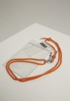 Colier Phone cu Additionals I Phone 8 transparent-portocaliu Urban Classics