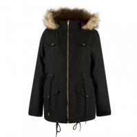 Jachete Lee Cooper Faux Fur Hooded Reversible pentru Femei