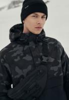 Jacheta Pulover Camo Mix negru-camuflaj Urban Classics