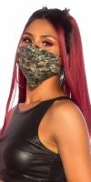 Masca la moda refolosibila model camuflaj