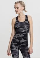 Camo Top pentru Femei inchis-camuflaj Urban Classics