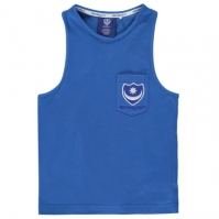 Team Portsmouth FC Muscle Vest de baieti Junior