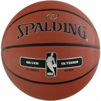 Mingi de Baschet SPALDING NBA SILVER OUTDOOR 2017 roz 6 83569Z