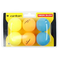 Minge tenis Carlton Neon Glow Table 6 Pack