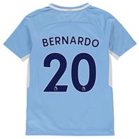 Tricou Nike Mancester City Home Bernardo Silva 2017 2018 Junior