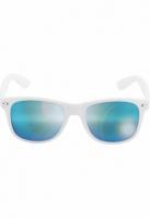 Ochelari de soare Likoma Mirror alb-albastru Urban Classics