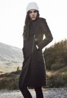 Geaca Peached Long Asymmetric pentru Femei negru Urban Classics