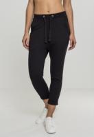 Pantaloni Open Edge Terry Turn Up pentru Femei negru Urban Classics