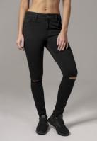 Pantaloni Cut Knee pentru Femei negru Urban Classics