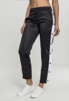 Pantaloni de trening Button Up pentru Femei negru-alb Urban Classics