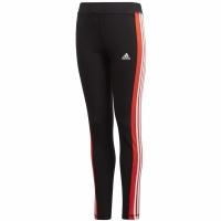 Pantaloni For Adidas Yg Lin 3s Tight negru And rosu GD6214 pentru Copii