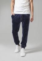 Pantaloni Velvet bleumarin Urban Classics