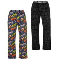 Character 2 Pack Pyjama Bottoms pentru Barbati