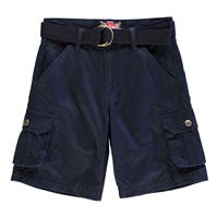 Pantaloni scurti Lee Cooper Belted Cargo de baieti Junior