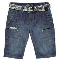 Pantaloni scurti No Fear Belted de baieti Junior