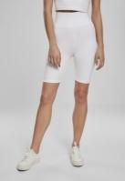 Pantaloni scurti cu talie inalta Cycle pentru Femei alb Urban Classics