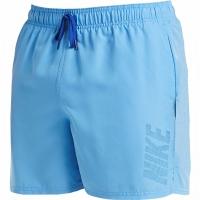 Pantaloni scurti de baie barbati Nike Logo Solid albastru NESS9504 438