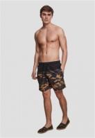 Pantaloni scurti inot negru-camuflaj Urban Classics