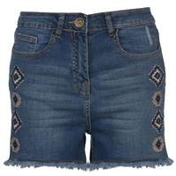 Pantaloni scurti SoulCal Embroidered pentru Femei