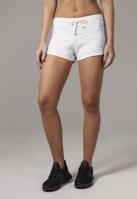 Pantaloni scurti Space Dye pentru Femei alb-negru Urban Classics