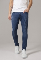 Blugi urban Skinny Ripped Stretch albastru-denim Urban Classics