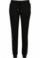 Pantaloni sport College contrast pentru Femei negru-alb