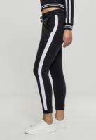 Interlock Joggpants pentru Femei negru-alb Urban Classics