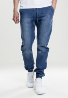 tricot Denim Jogpants albastru-washed Urban Classics