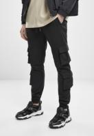 Pantaloni trening Double cu buzunar Terry negru Urban Classics