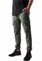 Pantaloni Washed Cargo Twill Jogging oliv Urban Classics