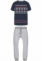 Pijamale Craciun Norwegian midnightnavy-gri Urban Classics